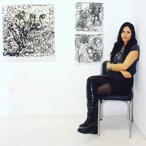 نجاح لافت النظر لمعرض منة حافظ بالشيخ زايد