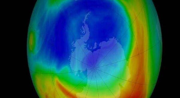 صورة ثقب الأوزون يسجل اصغر حجمًا له منذ 37 عامًا