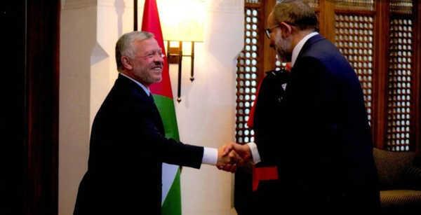 """صورة """"النايض"""" يلتقى العاهل الأردنى فى العاصمة عمان"""