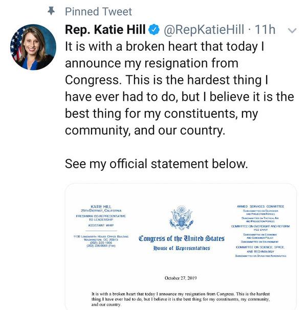 إستقالة نائبة أمريكية من الكونغرس جراء إقامة علاقة جنسية
