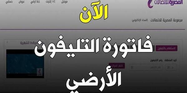 """فاتورة التليفون الارضى """"الفاتورة الربع سنوية"""" لشهر أكتوبر   الشركة المصرية للاتصالات"""