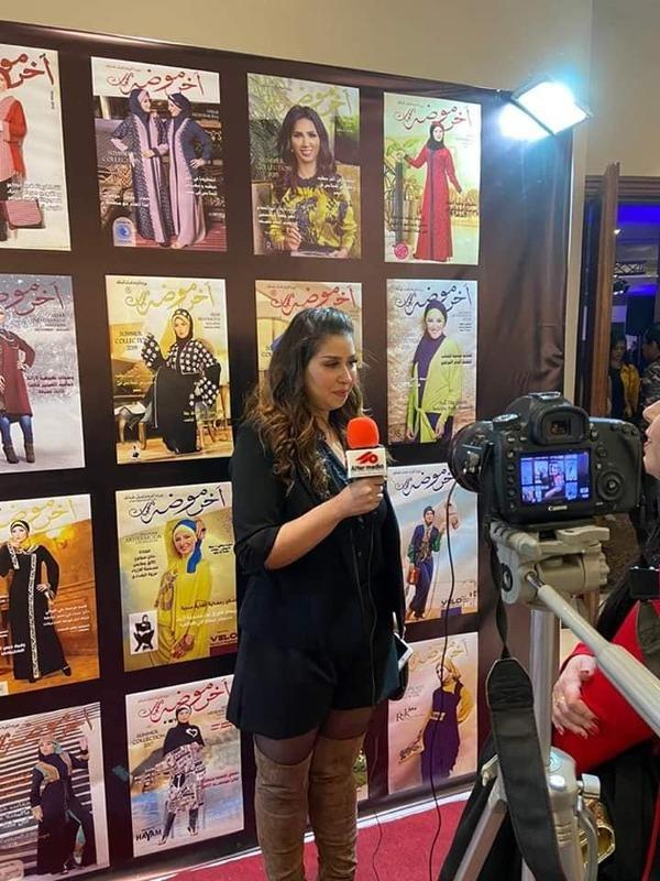 إيناس عز الدين تكشف عن سعادتها والتكريم في مهرجان آخر موضة