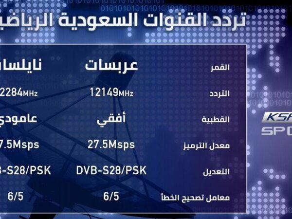 تردد قناة السعودية الرياضيه الجديد 2021 KSA SPORT على النايل سات و العرب سات   مصر فور