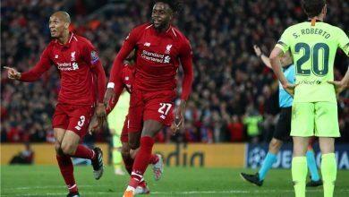 صورة تشكيل ليفربول: أوريجي يقود هجوم ليفربول أمام ميتلاند الدنماركي