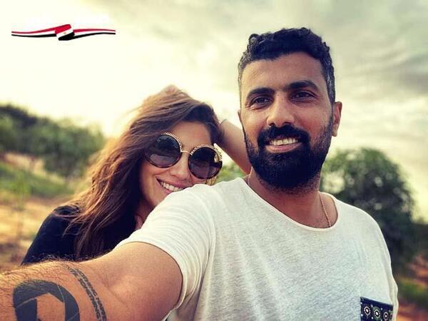 محمد سامي يحتفل بنجاح مسلسل مي عمر